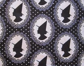 WITCH CAMEO fabric - by the yard - 44 inches wide, all cotton