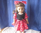 Mouse inspired Halloween outfit for your American Girl and similar 18 inch dolls