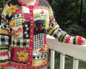 Harvest, harvest sweater, country sweater, tacky Christmas sweater party, ugly sweater, ugly sweater party, Christmas,tacky Christmas party