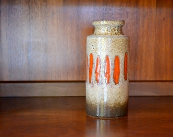 vintage ceramic west german scheurich lava vase / mid century modern / modern home decor / pottery vase / scandinavian decor