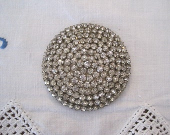 Vintage Large 3 Inch Rhinestone Applique Sew On Embellishment Buckle Bridal Buckle Sash Buckle