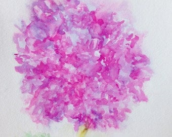 Pink Puff Abstract Art Print
