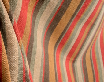 D2916 Savanna Red Earth Stripe Fabric