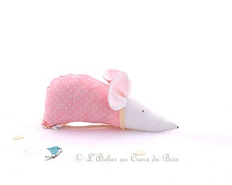 Scented sachet organic lavender sachet pink mouse little girl gift baby girl gift