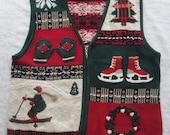 Ugly Christmas Vest Sweater w Fantastic Design