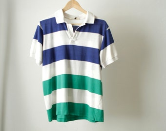 vintage 80s POLO short sleeve RUGBY style SAILING soccer shirt