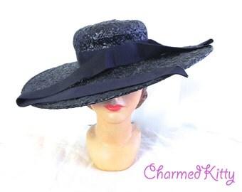 Vintage 50s Wide Brim Hat