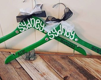 custom painted spirit hangers for VOLLEYBALL players