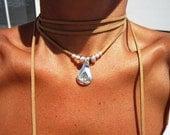 wrap necklace, minimal necklace, Boho jewelry, bohemian jewelry, hippy jewelry, gypsy necklaces, boho necklaces, minimalist jewelry