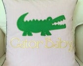 Personalized Gator Girl Pillow