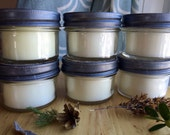 Soy Wax Candle Hand Poured with Cotton Wick Eco Friendly Natural 4 oz pick your scent handmade handcrafted rustic