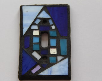 Blue Glass Mosaic Switch Cover
