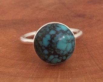 Turquoise Bezel Set Sterling Silver .925 Ring