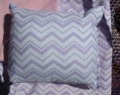 Lavender Chevron Doll Bedding for 18 inch doll like American Girl