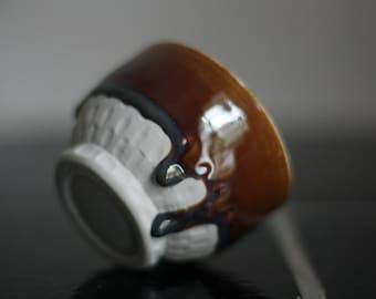 Porcelain bowl - caramel