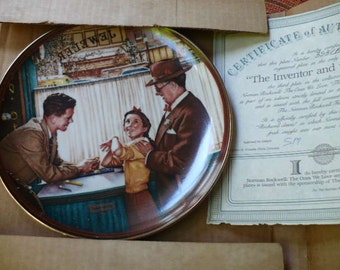 1989 Norman Rockwell Wall Plate
