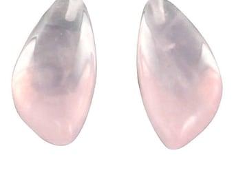 Rose Quartz Beads Teardrop Earring Set 20x10mm