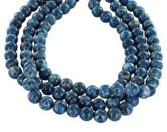 CHRYSOCOLLA Beads 10mm Round Blue New World Gems
