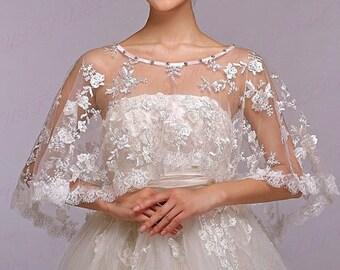 White Lace Bolero, White Bridal Bolero, White Wedding Bolero, Lace Bolero Shrug, Lace Bolero Wrap, Lace Bolero Shawl