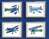 airplane art prints, vintage airplane art, airplane nursery wall art, airplane bedding, airplane bedroom, little pilot