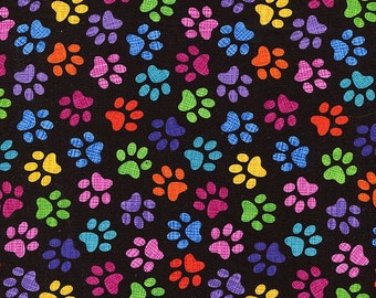 Rainbow Cat Paws - Timeless Treasures - 1 yard - More Available - BTY