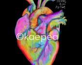 The Heart of an Artist Print from my original art