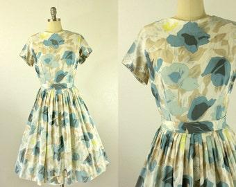 1950's Floral Dress S M Mister G