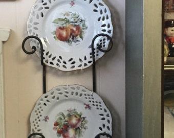 Czechoslovakian Baum Formalities Wall Plates- Set of Two