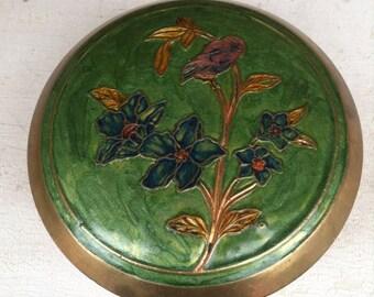 Brass Enamel Cloisonné Box