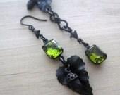 Mismatched Earrings Asymmetrical Acorn Earrings Autumn Leaves Acorn Jewelry Fall Wedding Romantic Gifts Mismatch Earring