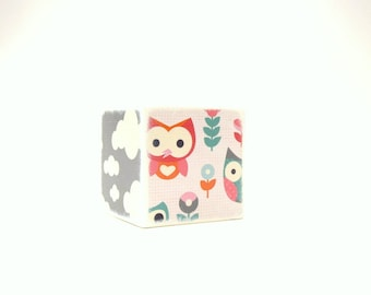 Owl Wood Bank , Kids Piggy Bank, Wooden Bank, Coin Box, Little Owl, Money Box, Wood Coin Bank,  Clouds Children, Nursery, Pastel Owls