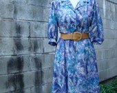 ON SALE Vintage 80s / California Looks / Mad Men / Secretary Dress / Medium