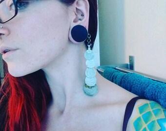 Coin drape earrings