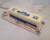 Butter dish/butter slab/butter server/yellow pottery/serving dish/hostess gift/foodie gift/ready to ship/gifts under 20