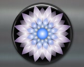 mandala refrigerator magnet, fridge magnet kitchen decor, purple and blue floral decor, spiritual decor, housewarming gift MA-MAND-36 DK