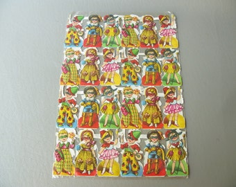Vintage German Die Cuts, Embossed, Children