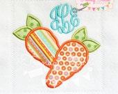 Carrots Applique Design Machine Embroidery Design INSTANT DOWNLOAD