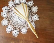 Vintage Gold Hair Brush Hairbrush Vanity Dresser Silver