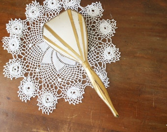 Vintage Gold Hair Brush Hairbrush Vanity Dresser Silver