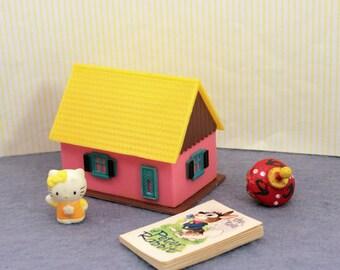 Tiny Dolls Dollhouse for Miniature Playroom Nursery Toys Decor