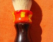 Beautiful mixed media, Cocobolo and Inferno Acrylic shaving brush, 24mm Sunrise Synthetic knot, #QQ1