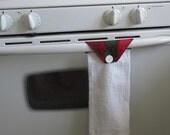 kitchen towel - marimekko fabric - red and green - christmas kitchen decor - hand towel