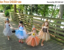 EARLY BIRD SALE Wizard of Oz  Dorothy - Tin Man - Lion - Scarecrow Inspired tutu dress costume for baby or toddler or children Halloween Cos