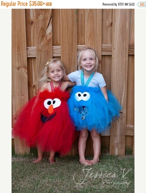 EARLY BIRD SALE Elmo Inspired Tutu Dress Halloween Costume for birthday or dress up playtime or parades halloween