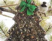 Wild Bird Seed Feeder Big Tree Boxed - Organic - Self Hanging- cake wreath
