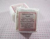 Apple Cider Vinegar Shampoo Bar, Handmade Soap, Natural Soap, Natural Hot Process Soap, Natural Shampoo, Hair Care, Moisturizing Shampoo