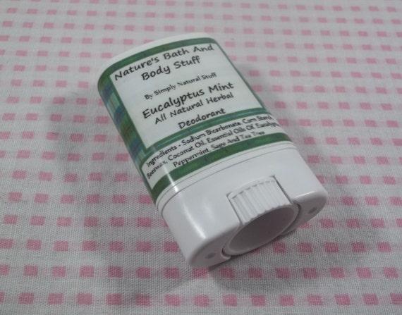 Eucalyptus Mint All Natural Deodorant, Trial Size Deodorant, Natural Deodorant, All Natural Deodorant, Handmade Deodorant, Deodorant