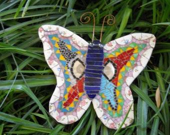 Handmade wall hanging mosaic butterfly