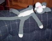 Funny Laid Back Crocheted Cat