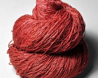 Eating rowan berries - Tussah Silk Fingering Yarn